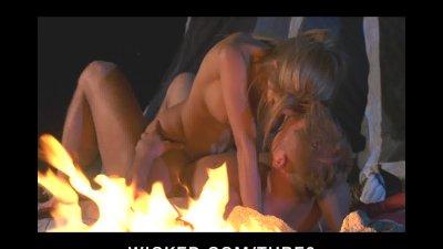 SEXY BIG TIT BLONDE PORNSTAR FUCKS BIG DICK OUTDOORS CAMP