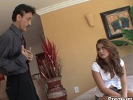 Allie Haze scores ugly old dude