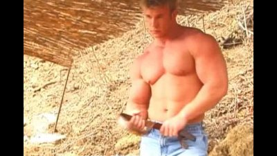 Bodybuilder Outdoors