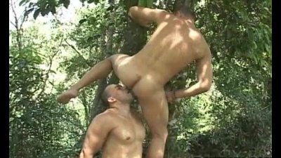 Hot and horny latino anal fucking