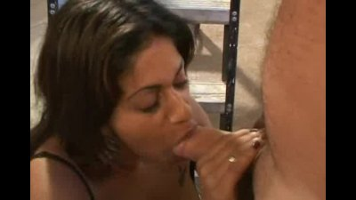 Black babe with a tight ass fucked  and had facial