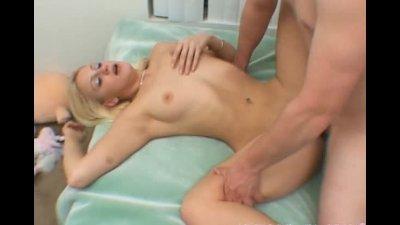 Cute blonde girl gets fucked b