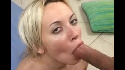 Blonde latina Deborah Prat blowing and stroking cock