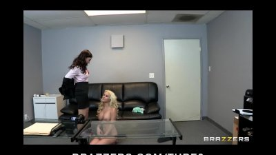 Hot young blonde teen is tricked by lesbian on fake casting couch