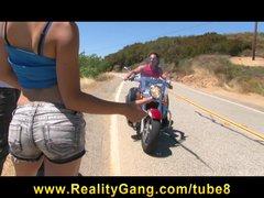 Cheating Young Teen slut girlfriend fucks biker s big hard dick
