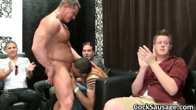 Bunch of drunk gay guys go crazy in club part3