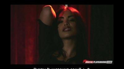 Hot brunette Latina stripper Selena Rose fucks client's bigdick
