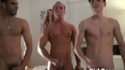 Straight college boys show off their ass