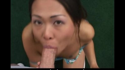 Naughty Asian cock sucker in t