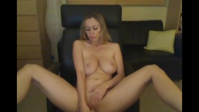 POV Busty Blonde Fucks with Dildo HD