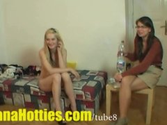 Preview 7 of Fresh Tereza  Double Bj And Threesome At The 1st Casting