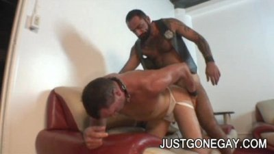 Nasty Tattooed Bear Tom Colt Fucks Friend