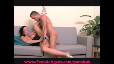 FemalAgent. Shy hunk is devoured.