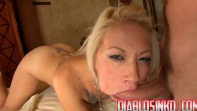 Coco brown clips deep throat