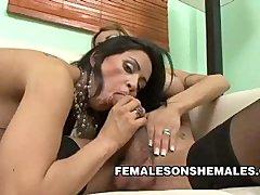 Hot Shemale Celeste Fucking Her Girl Friend