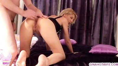 Anal and blowjob Gina Monelli