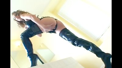 Thigh high boot sex with sexy