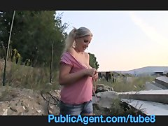 Preview 8 of Publicagent Natally Shows Me More Than Just Her Big Boobs Outdoor