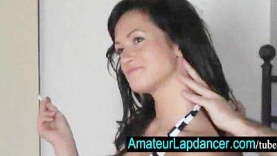 Sexy czech brunette lapdances