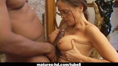 Horny Cheyenne Hunter sucking