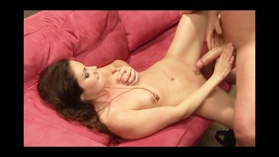 Office Whore Fucks her Boss on the Couch