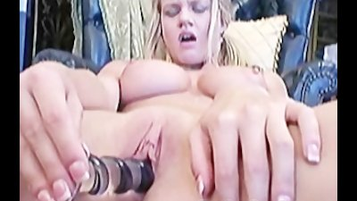 Busty chick Lisa Neils toying