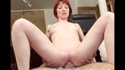 Slutty redhead babe getting pounded