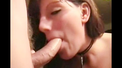 Hot brunette gets fucked and jizzed hard