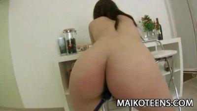 Teen Japanese Ayaka Oda getting a helluva foreplay