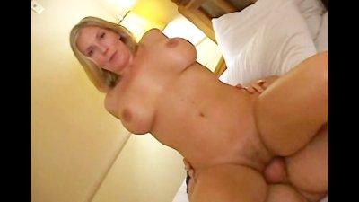 Blonde Sexy Slut Enjoying Multiple Dicks Gangbang