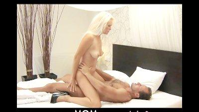 MOM Blonde busty MILF has multiple orgasms