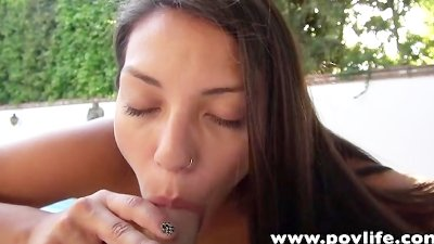 POVLife Sexy girlfriend Indica Reign POV outdoor sex