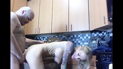 Blonde Babe Gets Cum on her Tits hd