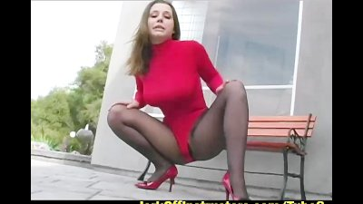Pantyhose tease from Erica Campbell