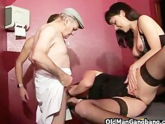 Swing club orgy with old man