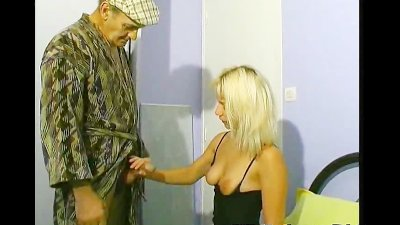 Blonde for cooking and fucking