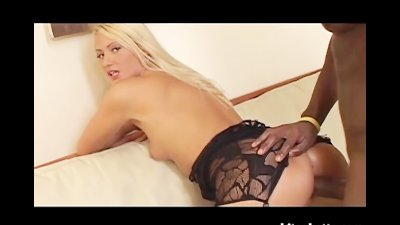 Blonde MILF Gets Her Ass Filled With ebony Cum