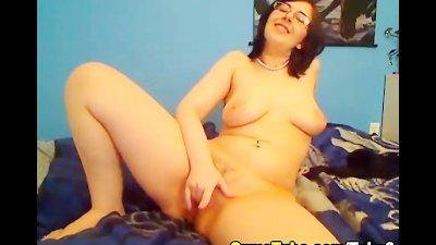 Hot Babe in Lingerie Masturbating HD