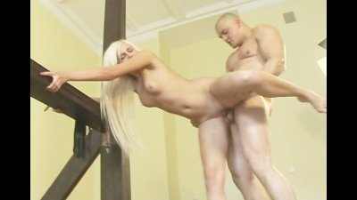 Sassy blond nun takes sexual punishment in the monastery