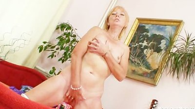 Blonde amateur cougar first ti