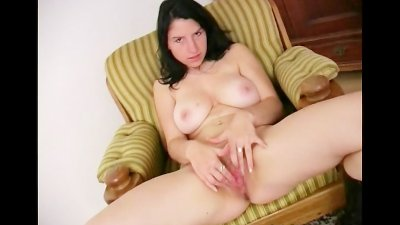 Katka Plays With Juggs  Pussy