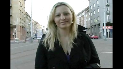 CZECH STREETS  Ilona takes cash for public sex