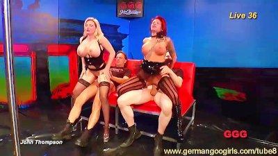 Hot German babes in intense orgies