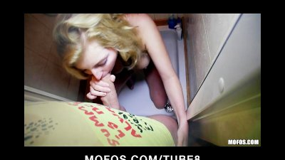 Shy blonde Czech girl agrees t