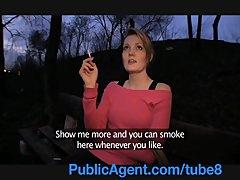 PublicAgent Meggie seetles for Sex for Cash behind the church