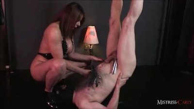Horny MistressCarly helps her