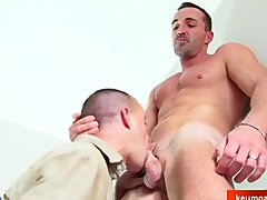 Real sport mature man get sucked by a fresh french guy