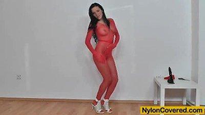 Ema Black nylon face distortion