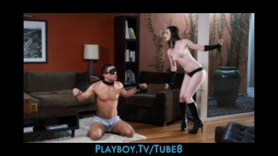 Naughty dominatrix Stoya punishes her new man
