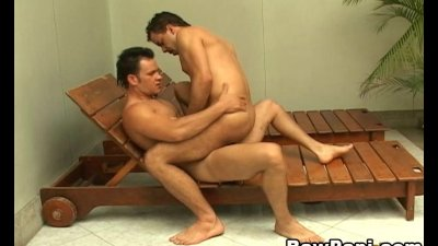 Latino Gay Sex In The Pool